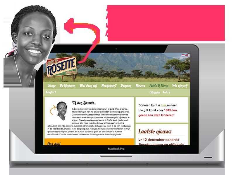 webdesign Auntie Rosette
